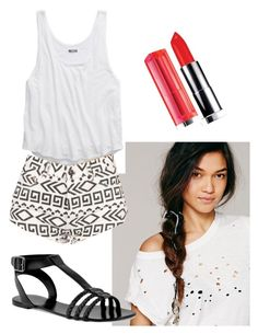 """Trying to match one if Stilababe09's outfit!"" by megan-lynn-hooker ❤ liked on Polyvore featuring Free People, American Eagle Outfitters, CHARLES & KEITH and Maybelline"