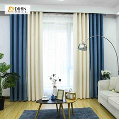 The principle: to divert the Swedish furniture that we all have at home from their primary function. Living Room Decor Curtains, Living Room Windows, New Living Room, Modern Curtains, Drapes Curtains, Custom Drapes, Bedroom Carpet, Glass House, Home Decor Kitchen