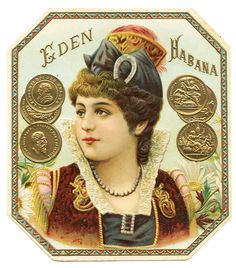 1895 Cuba Eden Cigar Label