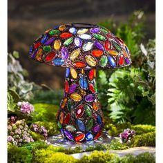 Glass Garden Art, Garden Stones, Garden Paths, Glass Art, Forest Garden, Garden Beds, Cut Glass, Solar Light Crafts, Solar Lights