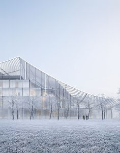 Image 15 of 17 from gallery of Sou Fujimoto and Coldefy & Associés Propose a Sweeping Canopy for French Court House. Photograph by MIR