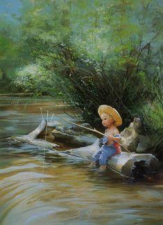 Donald Zolan- The Little Fisherman (vivid) (653×900)