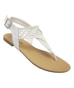 This Yoki White Baily Sandal by Yoki is perfect! #zulilyfinds