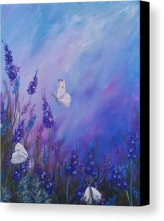 21 Ideas on what to Paint. What to paint when you don't know what to paint! Lavender in summer acrylic painting of flowers and white butterflies by Goldstarwork artist Laura Wilson Acrylic Painting Flowers, Butterfly Painting, Acrylic Painting Canvas, Acrylic Art, Watercolor Flowers, Canvas Art, Drawing Flowers, Paintings Of Flowers, Paint Flowers