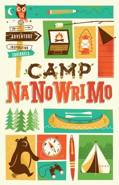 Part of a nice system for NaNoWriMo by Brave the Woods. http://bravethewoods.com/work/camp-nanowrimo