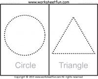 Picture Tracing – Shapes – Circle, Star, Triangle, Square and Rectangle – 1 Worksheet / FREE Printable Worksheets Shape Tracing Worksheets, Tracing Shapes, Free Printable Worksheets, Writing Worksheets, Kindergarten Worksheets, In Kindergarten, Free Printables, Number Tracing, Kids Worksheets