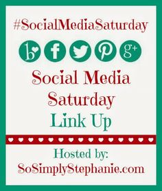 I'm Co-hosting Social Media Saturday Link Up with @Stephanie Manning
