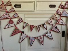 """bunting """"merry xmas"""" large and small"""
