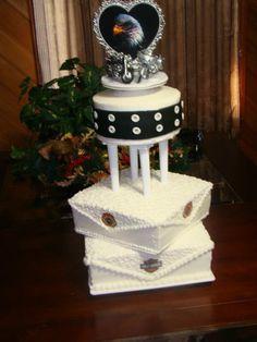 My Harley wedding cake by Something Sweet.  Harley-Davidson of Long Branch  www.hdlongbranch.com
