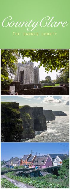 Along Ireland's Wild Atlantic Way, you'll discover colorful Clare, the Banner County, so called for its people's proud tradition of creating banners for every trade guild, from bakers to brogue makers. Boasting the famous Cliffs of Moher, Bunratty Castle, Doolin, and the Burren, the scenery here is the stuff of dreams. Add to this their badge of honor as one of Ireland's liveliest traditional music scenes, and Clare people have a lot to be proud of!
