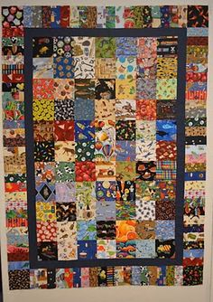 I Spy Quilt*made from clothing sewing scraps or old clothing.