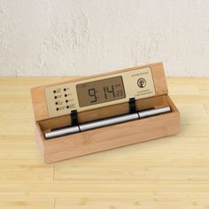 Digital Zen Alarm Clock - this best-selling product lets you start your day more renewed and refreshed, as it eases you out of your meditative state. Multiple reviews rave about the gentle Tibetan bell-like chimes. I like its minimal design using light, clean bamboo wood. Compared to my bulky, plastic, beaping clock, this is more appealing in every way. | found on gaiam.com | #greendorm