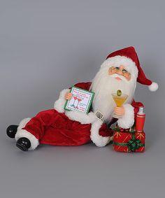 Martini Mixer Santa Figurine #zulily #zulilyfinds