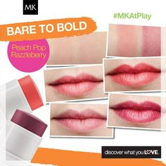Bare to Bold! Blush over and pucker up with this 2 in 1 NEW Mary Kay at Play Lip & Cheek Tint. www.marykay.com/LaShon