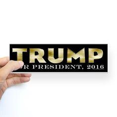 Gold Bar Donald Trump Bumper Bumper Sticker on CafePress.com