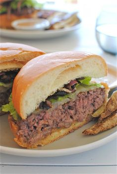 homemade pub-style beef burgers - adapted from an America's Test Kitchen recipe!