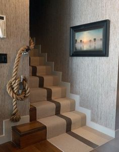 Cute railing idea for Drew's stairs