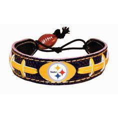 Pittsburgh Steelers Game Wear Team Color Football Bracelet GameWear http://www.amazon.com/dp/B002VQ1CVM/ref=cm_sw_r_pi_dp_MPv6tb0N4WY13