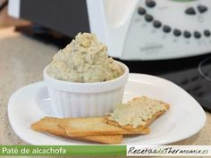 Paté de alcachofa Thermomix Snack Recipes, Healthy Recipes, Snacks, Mini Foods, Food N, Dairy Free Recipes, Vegetable Recipes, Finger Foods, Catering