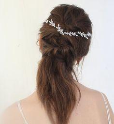 Silver leaf headpieces Bridal headpieces Wedding by Ayajewellery