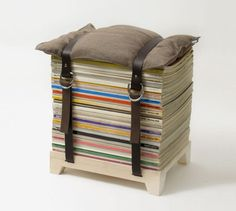 magazine stool - So cool and eco-friendly