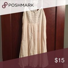 Mossimo cream lace detail dress Mossimo cream colored tank dress. lace detail in from and back. size M-- no trades! Mossimo Supply Co. Dresses Midi