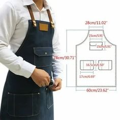 Sewing Hacks, Sewing Tutorials, Sewing Crafts, Baby Dress Patterns, Sewing Patterns, Jean Apron, Tool Apron, Cape Pattern, Work Aprons