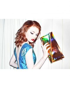 Holographic clutch... Sass