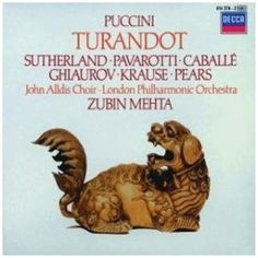 Puccini - Turandot / Sutherland · Pavarotti · Caballé · Ghiaurov · Krause · Pears · LPO · Mehta: No Description Available.brGenre: /bClassical MusicbrMedia Format: /bCompact DiskbrRating: /bbrRelease Date: Music Theater, Music Library, Theatre, Zubin Mehta, Joan Sutherland, Shops, Try It Free, Classical Music, Orchestra