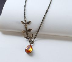 Bee Necklace. Honey Bees and Honey Drop Necklace. Three by LeChaim, $24.00
