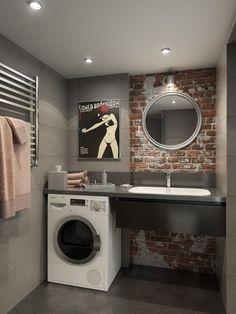The Best 2019 Interior Design Trends - Interior Design Ideas Loft Design, Home Room Design, Bathroom Interior Design, Home Interior, Living Room Designs, House Design, Casa Milano, Loft Studio, Toilet Design