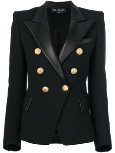 Shop online black Balmain button embellished blazer as well as new season, new arrivals daily. Phenomenal luxury selection, get it now with quick Global Shipping or Click & Collect orders. Look Blazer, Blazer Jacket, Casual Blazer, Tailored Jacket, Balmain Jacket, Balmain Blazer Outfits, Casual Outfits, Fashion Outfits, Blazer Fashion