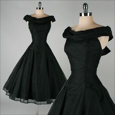 These are gorgeous tight fitting waisted dresses with full crinolined skirts,showing a little lace edge ...