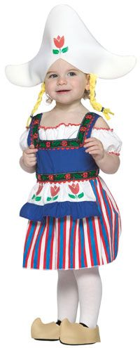Toddler Little Dutch Girl Costume - Toddler Halloween Costumes