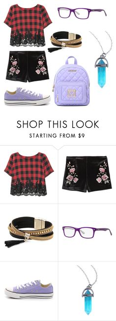 """Flower Pop!"" by qwertyuiop-sparta ❤ liked on Polyvore featuring Rosamosario, Simons, Ray-Ban and Love Moschino"