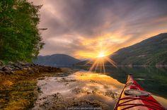 Kayaking into the sunset by Jørn Allan Pedersen on 500px