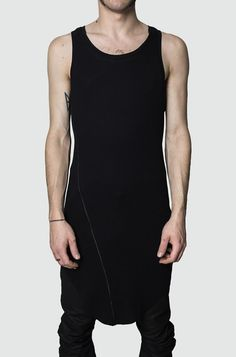 Men's black ribbed tank top from the AW17 collection from Army Of Me. Close fit. Made in Turkey. The model is 176cm / 62kg and wears size S. Material composition: 100% Modal Article code: 17224