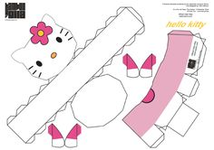 Blog Paper Toy papertoy Hello Kitty Bamboogila template preview Papertoy Hello Kitty de Bamboogila