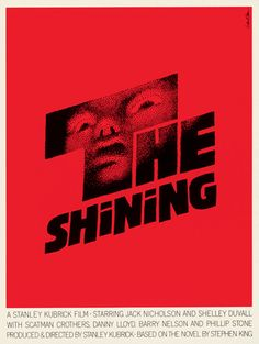 "Saul Bass movie poster, ""The Shining,"" 1980, dir. Stanley Kubrick based on the novel by Stephen King"