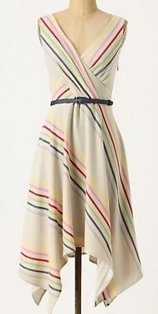 """I wish I could get this Anthropologie """"Crossing the Stripes"""" dress now!"""