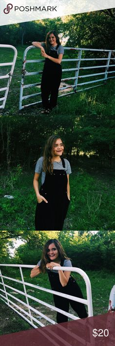 Black overalls Casual wear overalls. Fits small and medium Jeans Overalls