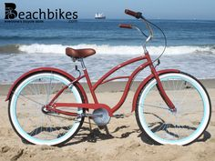 "Meet Abigail! The newest addition to the Sixthreezero Women's line. 26"" 3 speed beach cruiser bike $329.99"