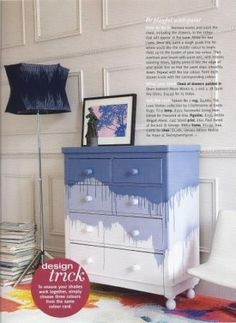 DIY Paint Dripped Dresser