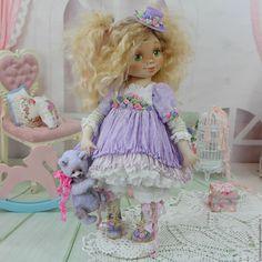 Купить Фиалочка .Кукла авторская шебби-шик - куклы, розовый, сиреневый, кукла, шебби-шик