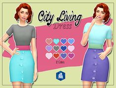 The Sims 4: KASS - City Living Dress - Recolor