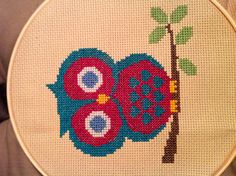 Cross stitch owl for Berkley!