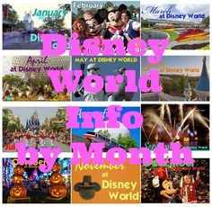 Has the list of when to book what by going to the month you plan to be there. Info for every month - Disney World park hours, refurbishments, discounts, crowd levels Disney World Park Hours, Disney World 2015, Disney World Parks, Walt Disney World Vacations, Disneyland Trip, Disney 2017, Disney Worlds, Disney Travel, Dream Vacations