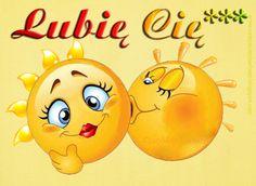 lubię-cię,-buziaczki-dla-ciebie,-obrazki-ruchome,-gify,-słoneczka,-buziaki,-na-żółtym-tle,-przywitanie,.gif (700×512) Smiley Emoji, Animated Smiley Faces, Animated Icons, Love Smiley, Emoji Love, Emoji Images, Emoji Pictures, Funny Emoticons, Funny Emoji