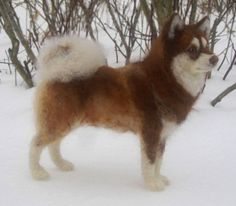 Needle felted dog custom pet portrait pose-able door Ainigmati