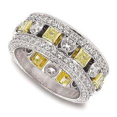 jack kelege kpbd664 wedding ring jack kelege platinum diamond eternity band ring features a 3 - Yellow Diamond Wedding Rings